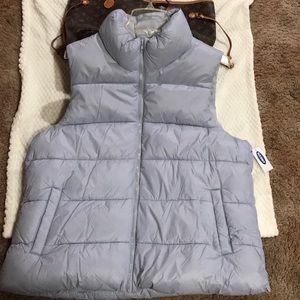 Gray brand new never worn puffy vest